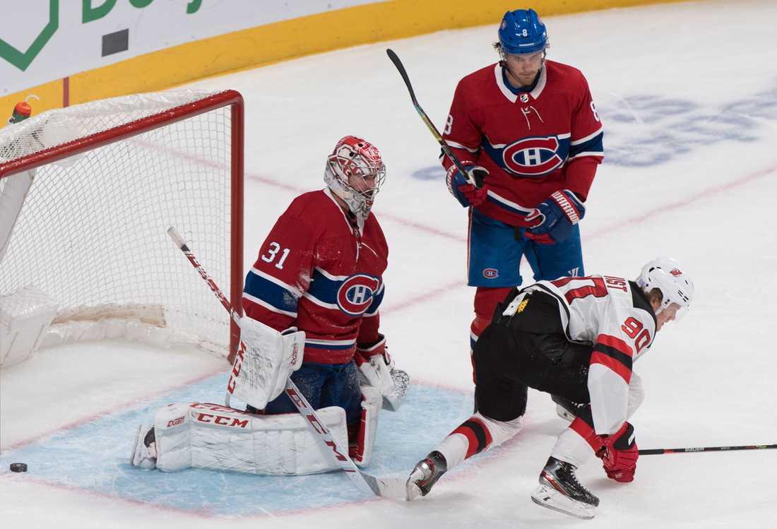 Jesper Boqvist gjorde sitt andra mål i NHL när hans New Jersey mötte Montréal.