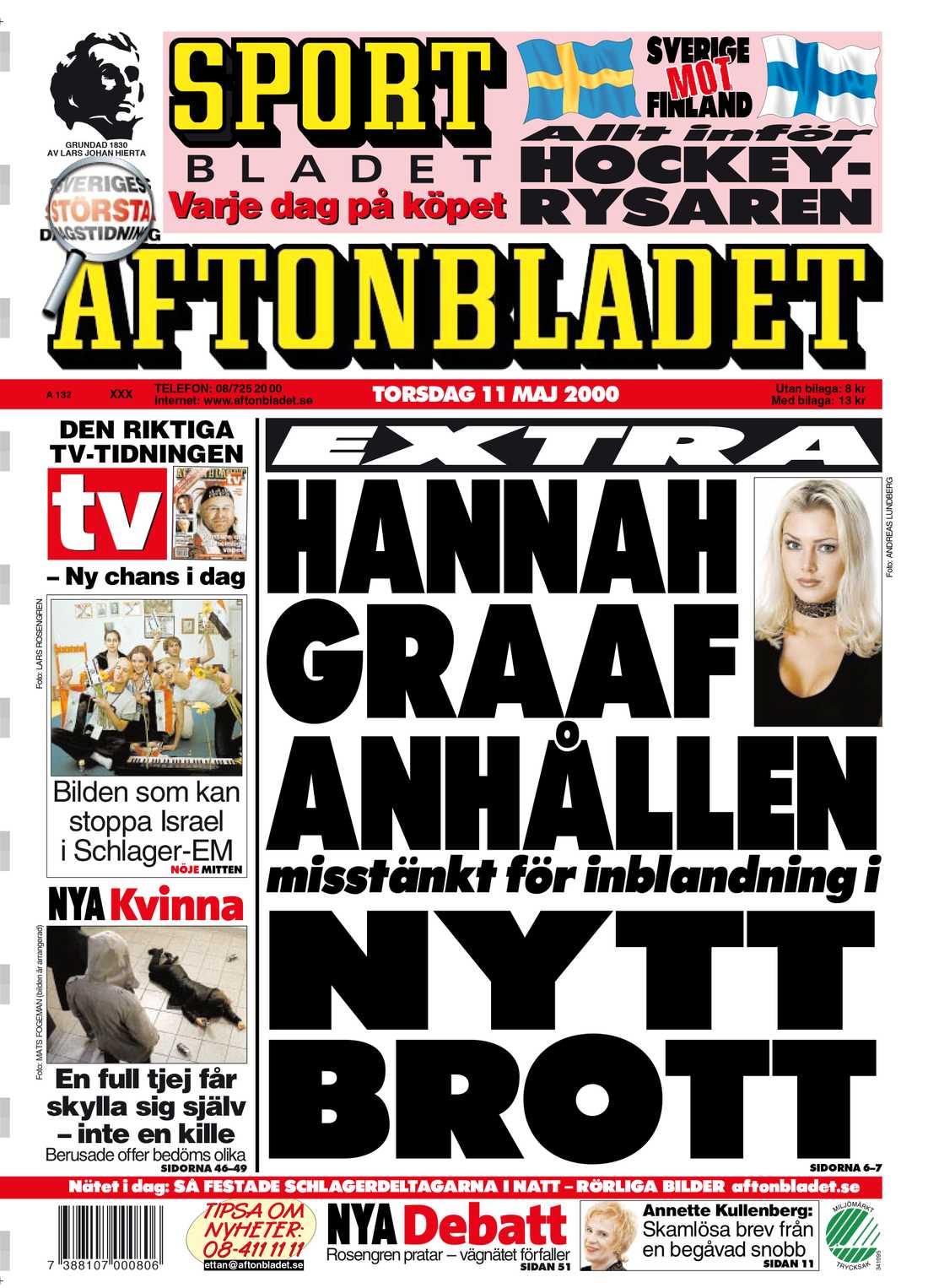 Aftonbladet torsdag 11 maj 2000