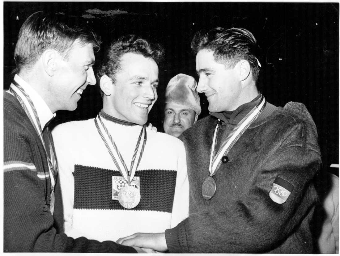 Egon Zimmermann tog OS-guld i Innsbruck 1964.