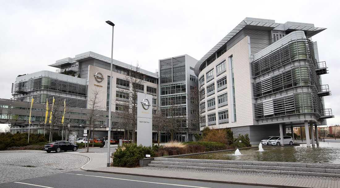 Opels huvudkontor i  Ruesselsheim, Tyskland.