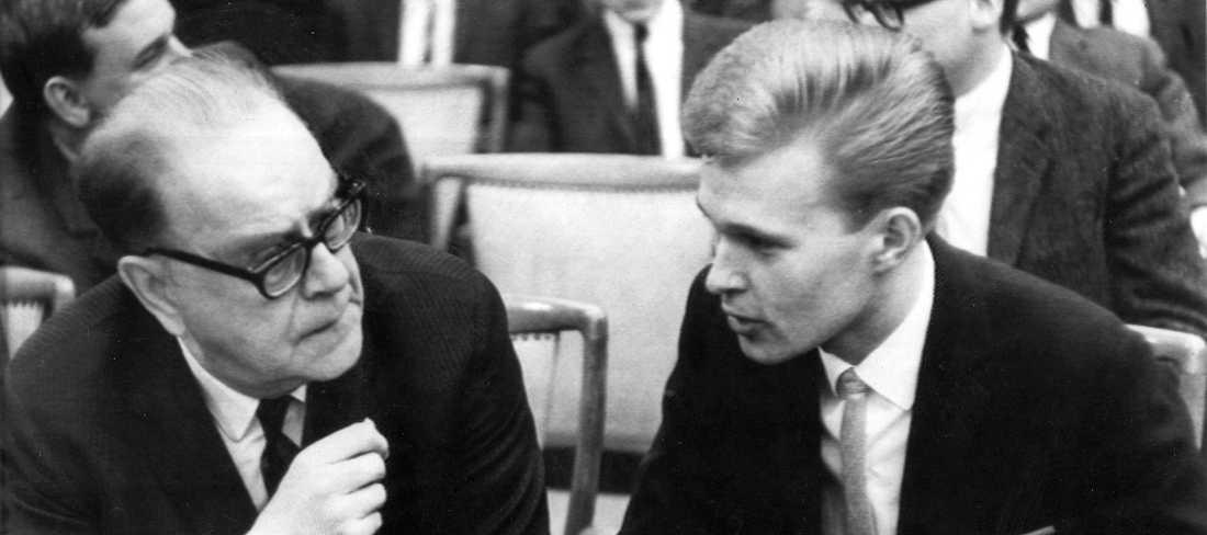 Tage Erlander och Olle Svenning 1966