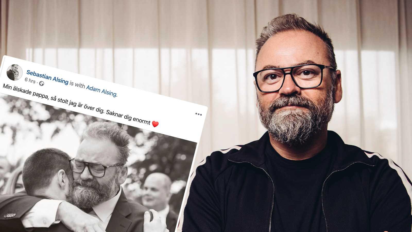 """Familjens sorg efter Adam Alsings död: """"Saknar dig enormt"""""""