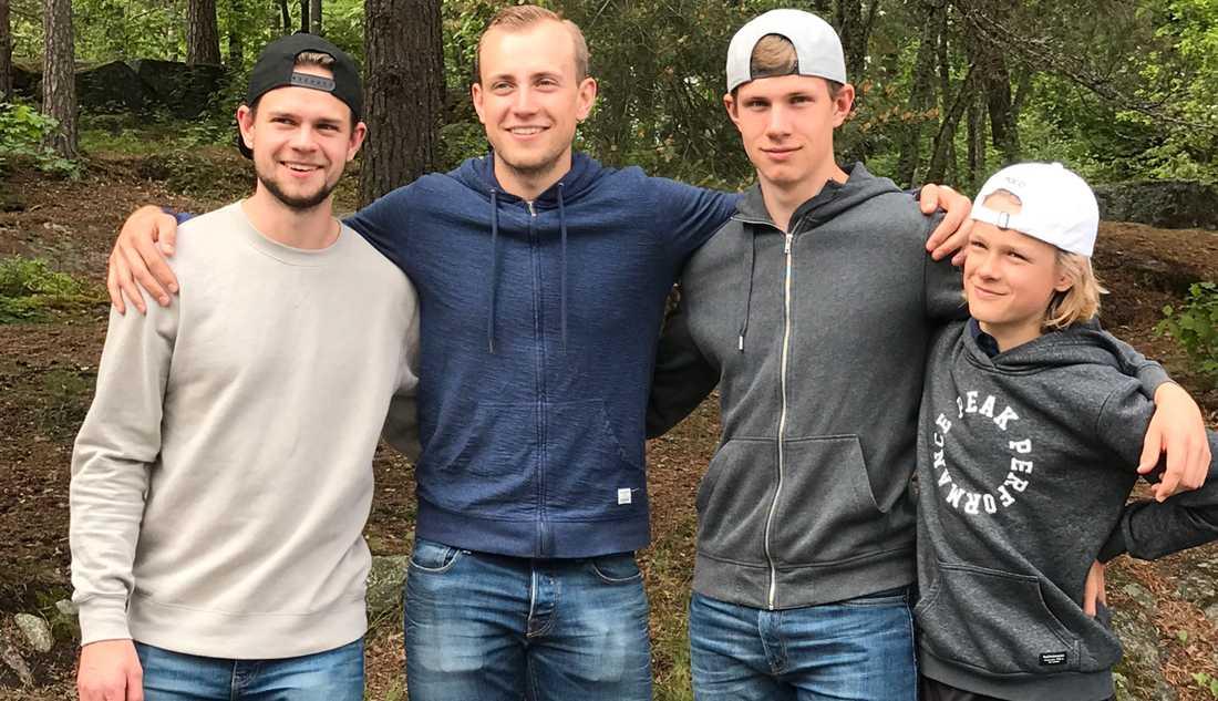 Alla sönerna Adam, Kevin, Samuel och Lucas