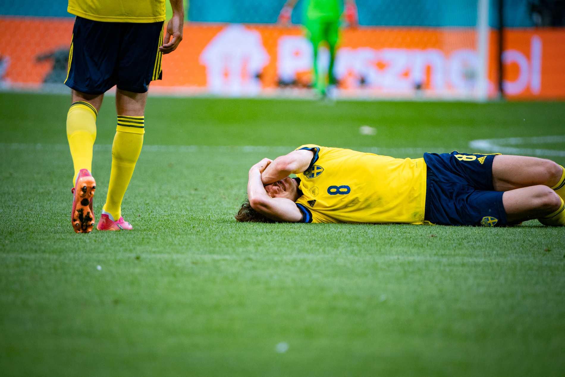 Albin Ekdal under matchen.