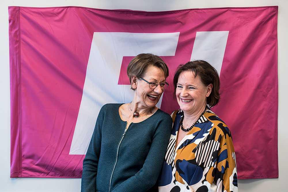 Gudrun Schyman och Annelie Nordström.