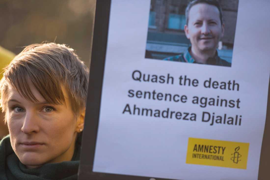 Protester mot den planerade avrättningen av Ahmadreza Djalali. Arkivbild.