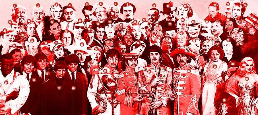 Hur många känner du igen på Sgt Pepper-omslaget? (rätt svar under artikeln).