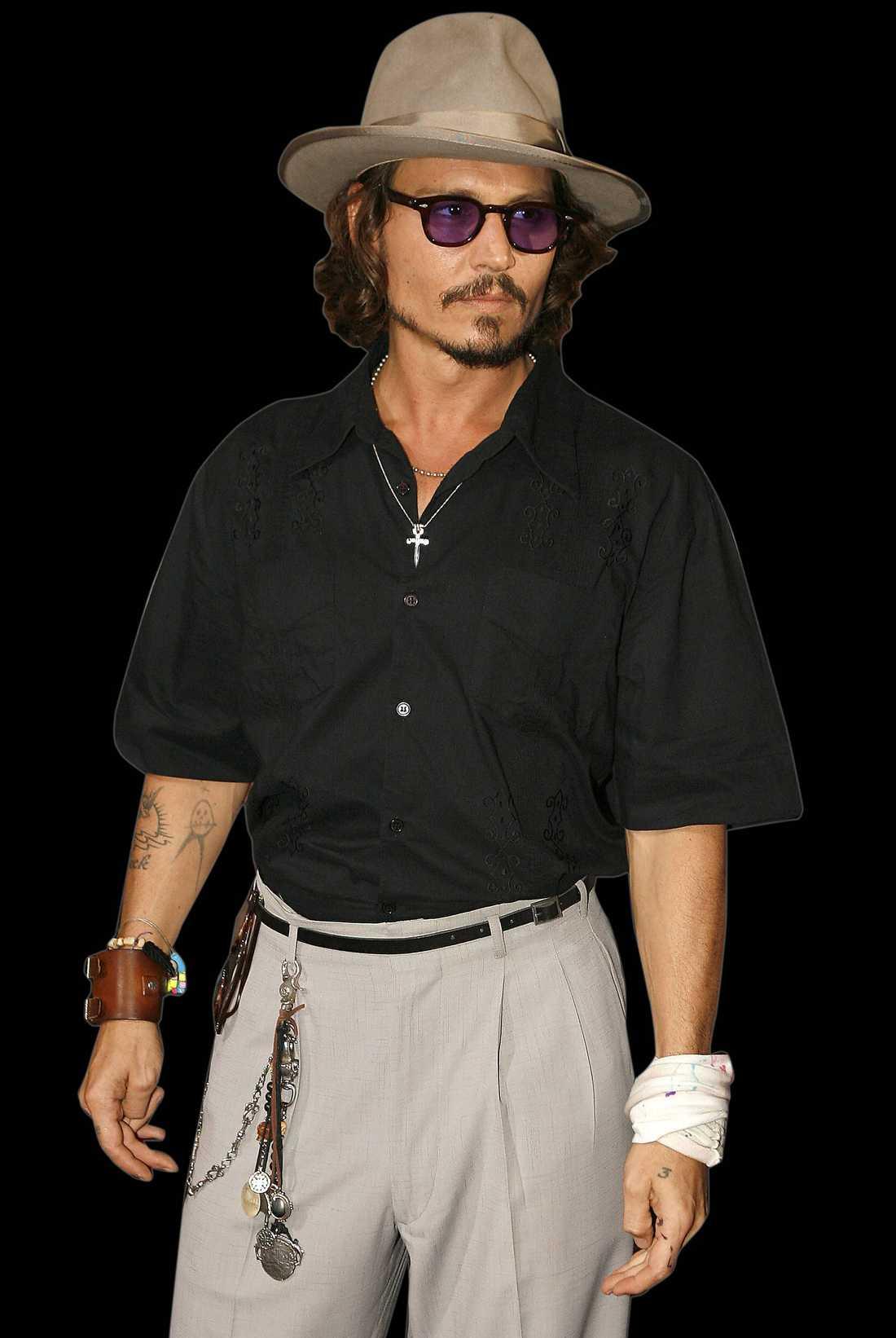 Johnny Depp, mannen de flesta tjejer fantiserat om, enligt Sofia.