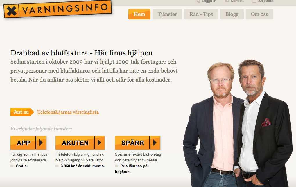 Lars-Johan Jarnheimer är delägare tillsammans med Dick Malmlund som är operativt ansvarig på Varningsinfo.