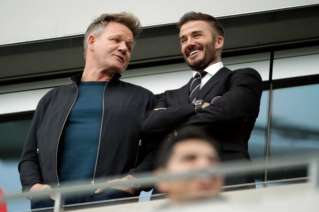 Gordon Ramsey och David Beckham.