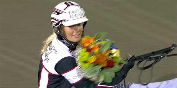 Linda Sedström efter segern i Dam-SM 2018.