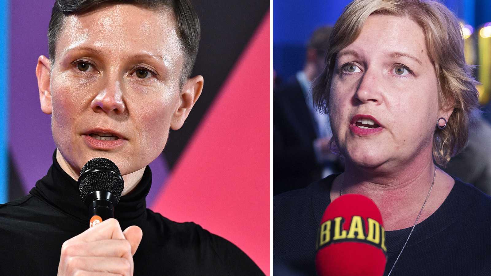 Karin Gunnarsson (t.v.) och Karin Karlsbro (t.h.)