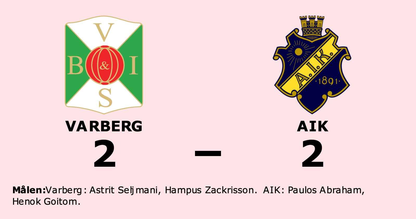 Delad pott för Varberg och AIK