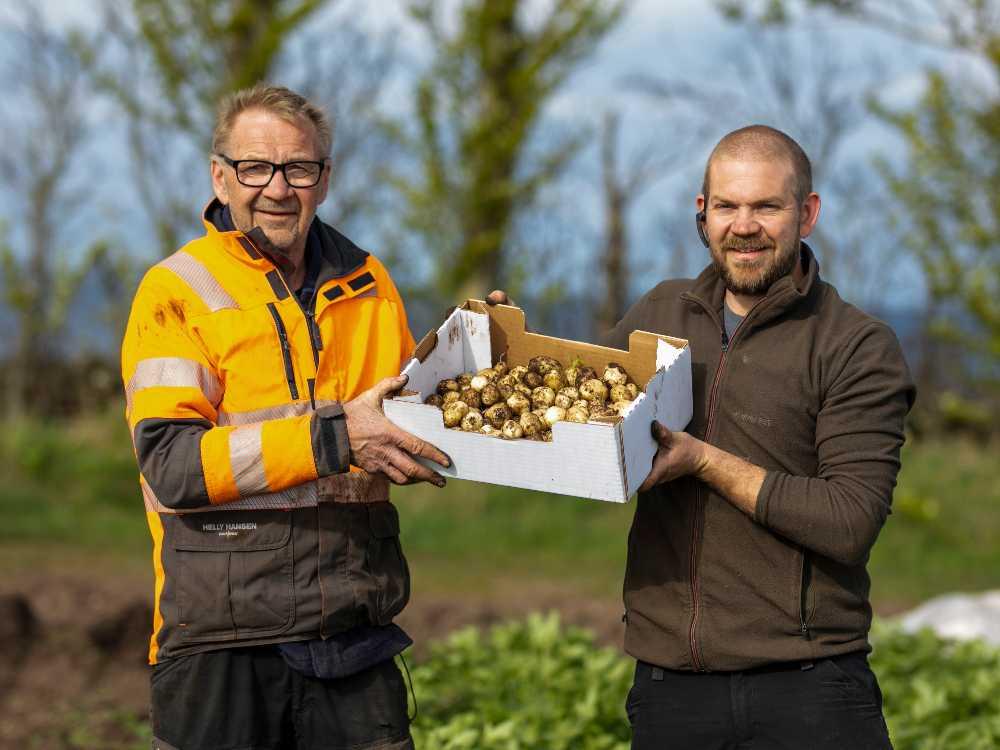 Potatisodlarna Leif Svensson och Ted Ivarsson.