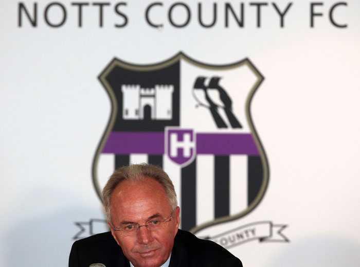 Förra sommaren blev Sven-Göran Eriksson sportchef för Notts County.
