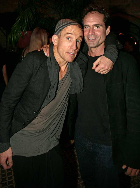 Johan Renck tillsammans med Hollywoodskådisen Jason Patric.