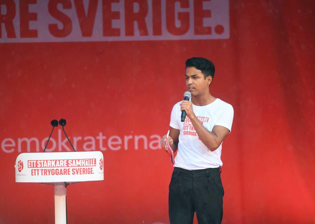SSU ska anta ett nytt miljö- och klimatprogram på sin kongress i helgen. SSU-ordföranden Philip Botström hoppas att det blir en blåslampa på S. Arkivbild.