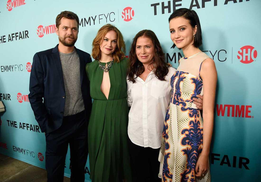 """Joshua Jackson, Ruth Wilson, Maura Tierney och Julia Goldani Telles från """"The Affair""""."""