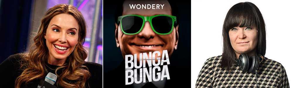 """Whitney Cummings, t v, ger ett amerikanskt perspektiv på Silvio Berlusconi i podden """"Bunga Bunga""""."""