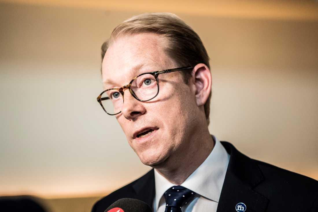 Tobias Billström, Moderaternas gruppledare i riksdagen.