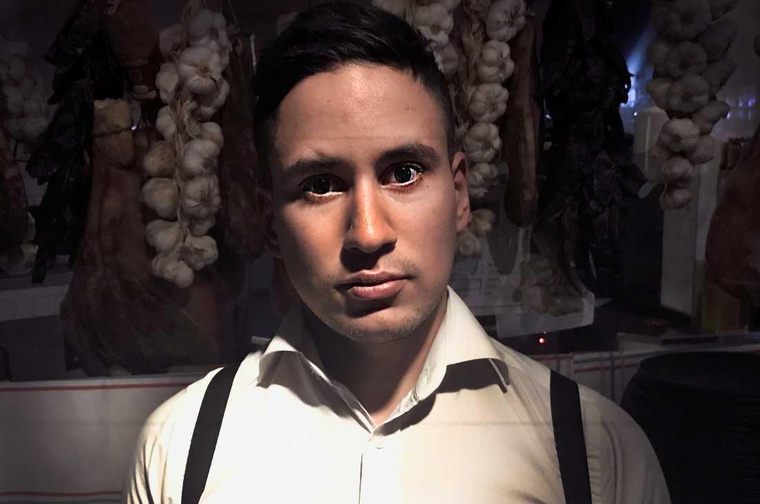 Daniel Boumama, bartender på klubben Hornhuset i Stockholm.