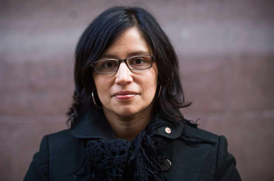 Rossana Dinamarca (V), riksdagsledamot i utbildningsutskottet.