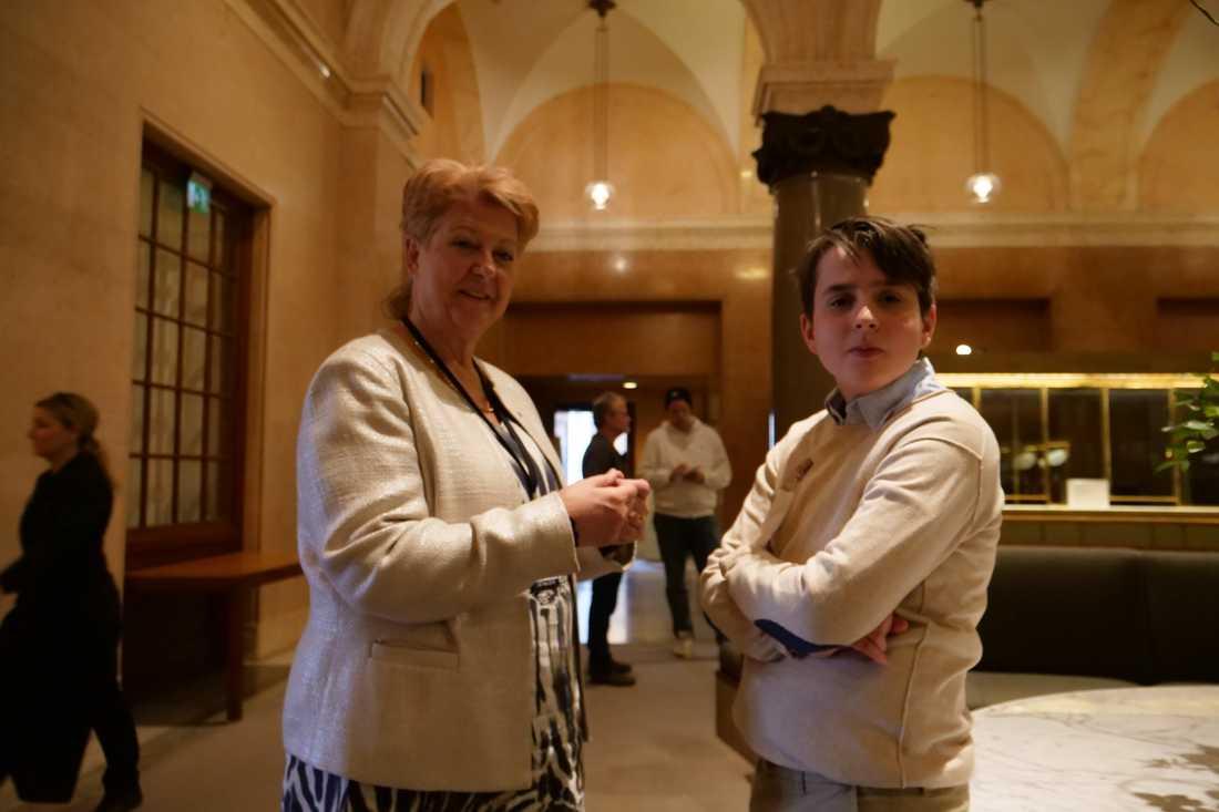 Agneta Gille lovade att ta Leo Lusts förslag till ministernivå.