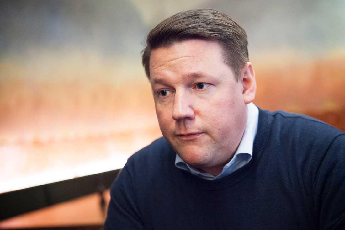 Kommunals ordförande Tobias Baudin.