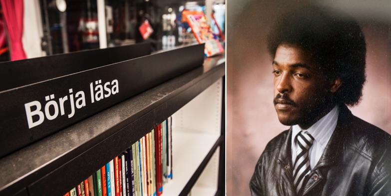 Bibliotek / Dawit Isaak. Illustrationsbild.