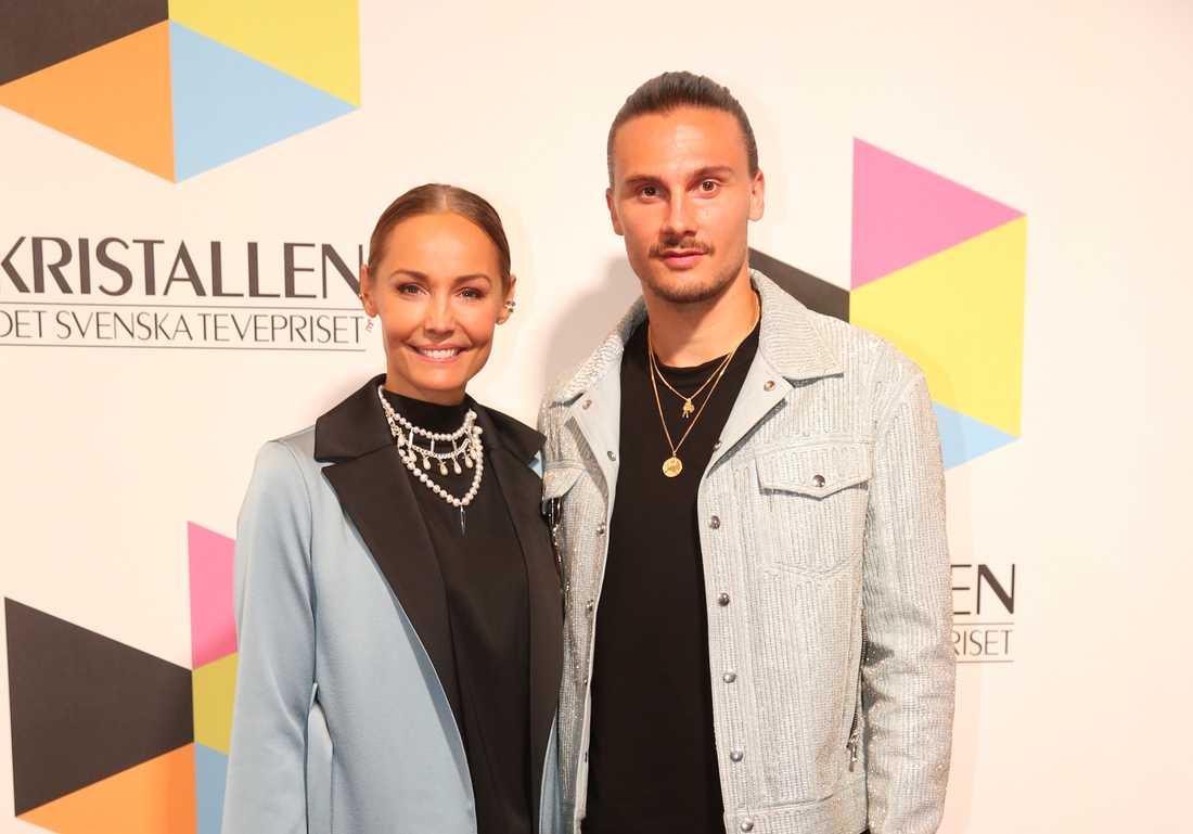 Carina Berg med sin man Erik.