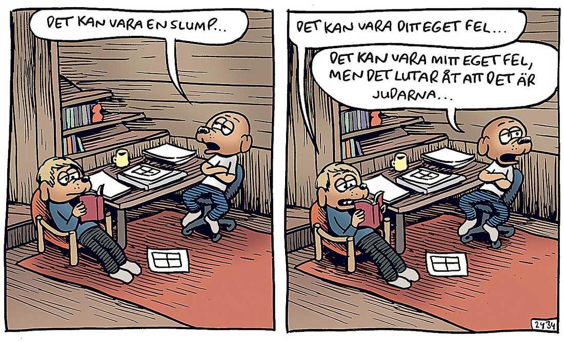 Martin Kellermans Rocky-seriestrip anklagades för antisemitism och avpublicerades av Dagens Nyheter.