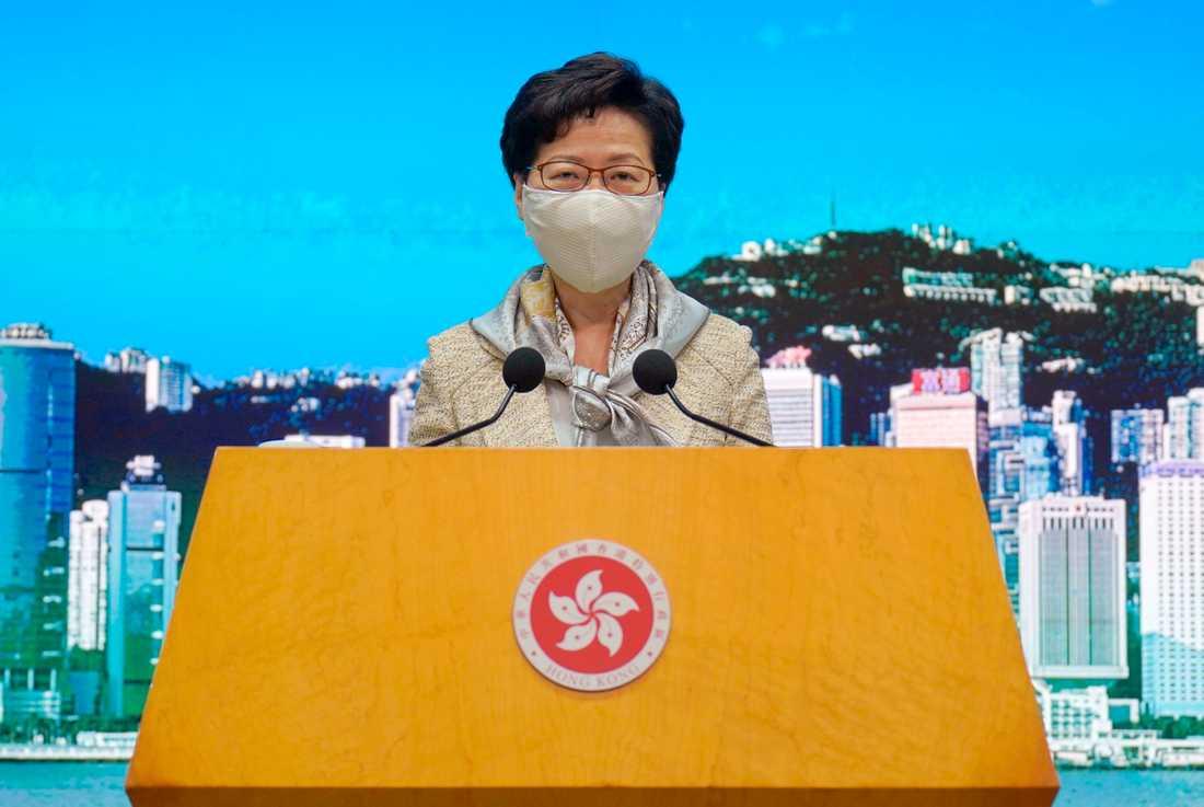 Hongkongs ledare Carrie Lam. Arkivbild.