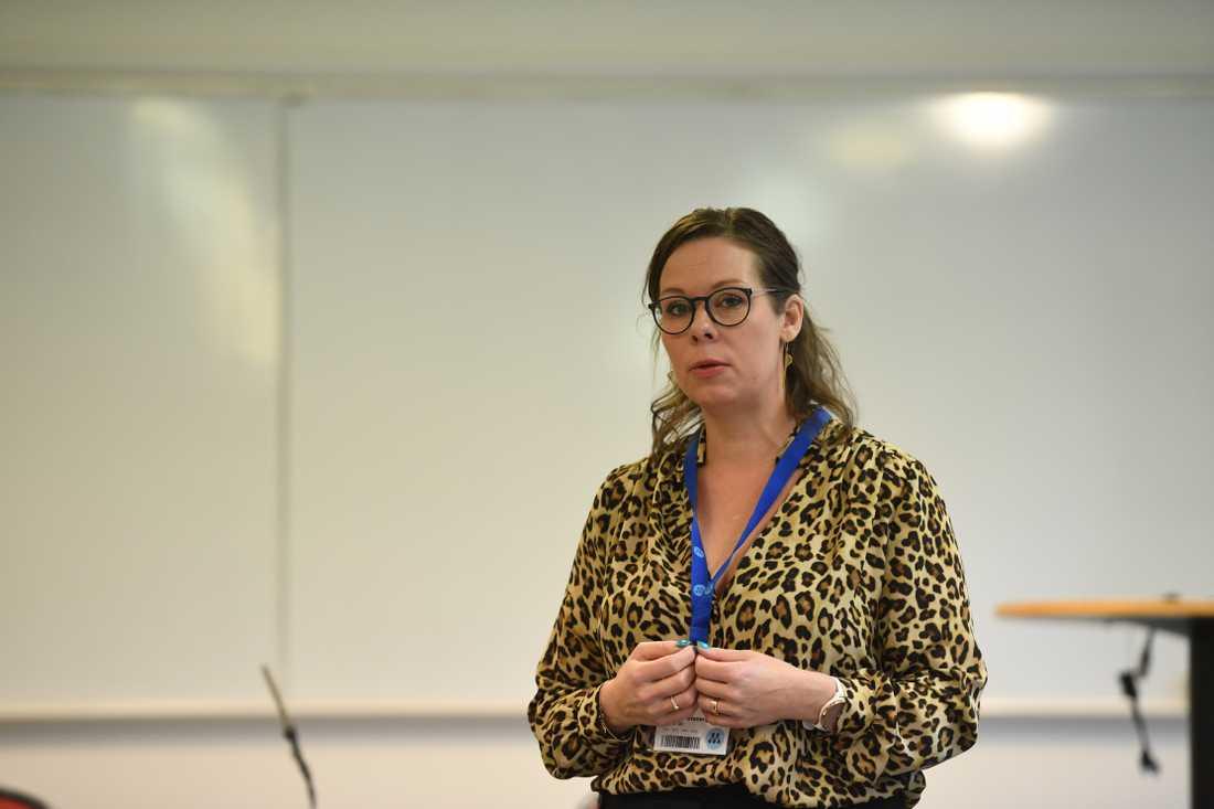 Maria Malm Stenergård,  migrationspolitisk talesperson för Moderaterna.
