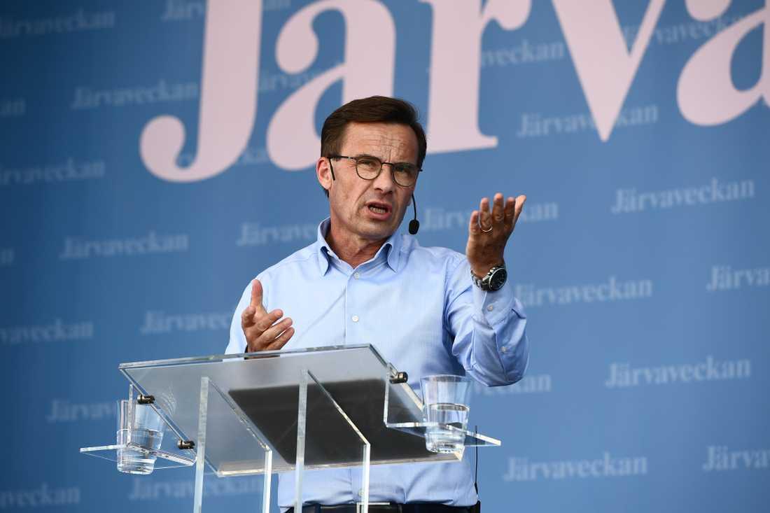 Ulf Kristersson (M) talar under Järvaveckan 2019.