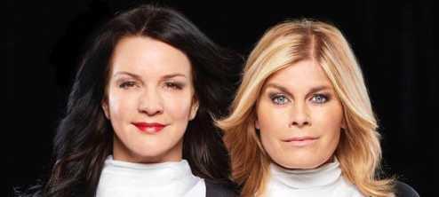 """Sofia Wistam och Pernilla Wahlgren poddar tillsammans i """"Wahlgren och Wistam""""."""