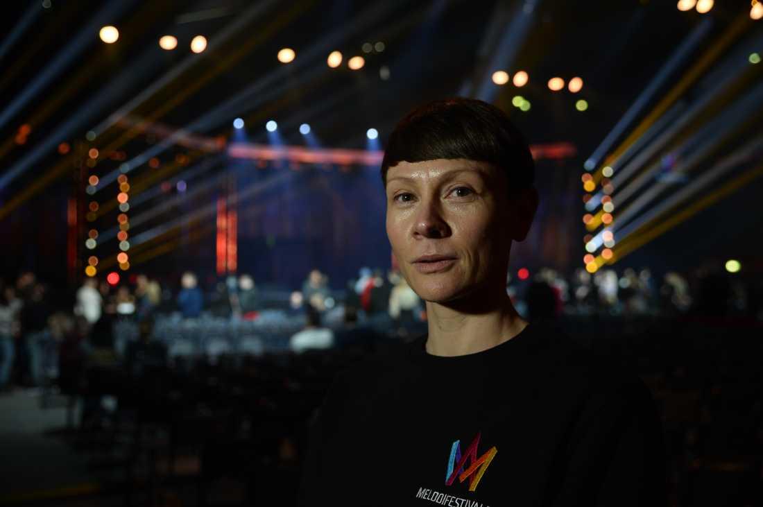 Karin Gunnarsson, tävlingsproducent för Melodifestivalen