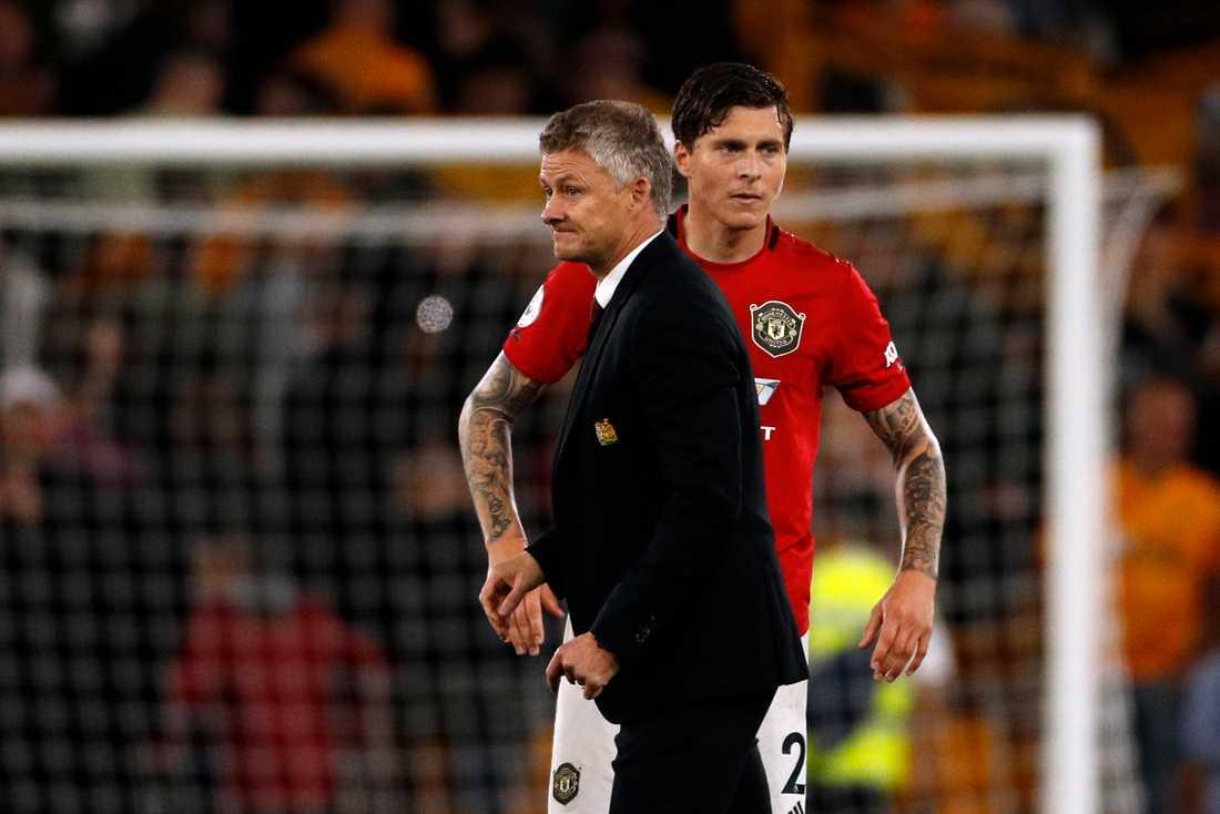 Manchester United tränas av norrmannen Ole Gunnar Solskjær och i backlinjen är svenske Victor Nilsson Lindelöf ordinarie. Arkivbild.