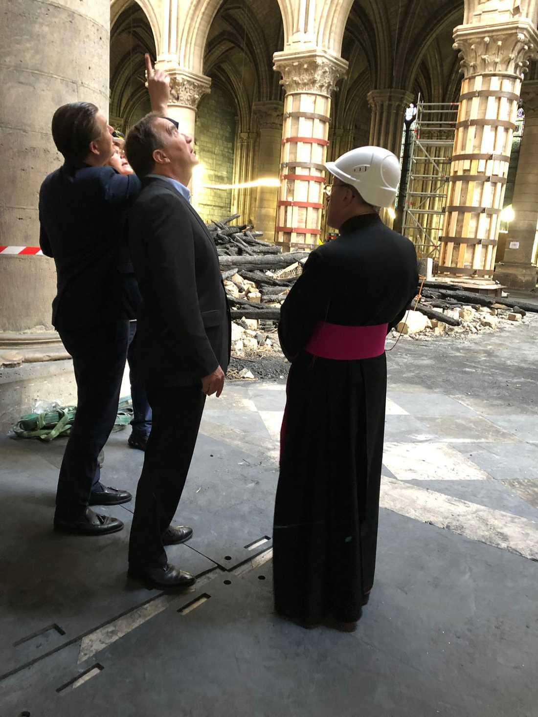 Statsministern var i Notre-Dame under luciafirandet förra året.
