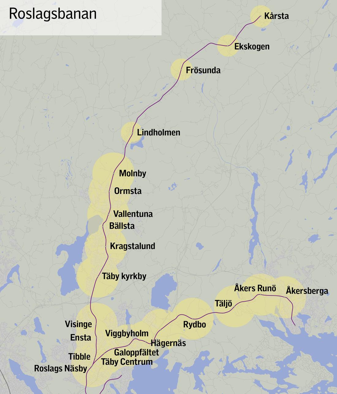 Här ska det byggas runt Roslagsbanan.