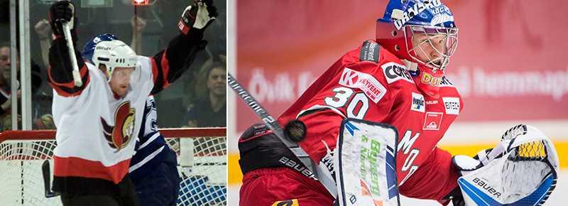 Andreas Dackell i Ottawa Senators-tröja fick se sonen Oliver Dackell vinna direkt för Modo.