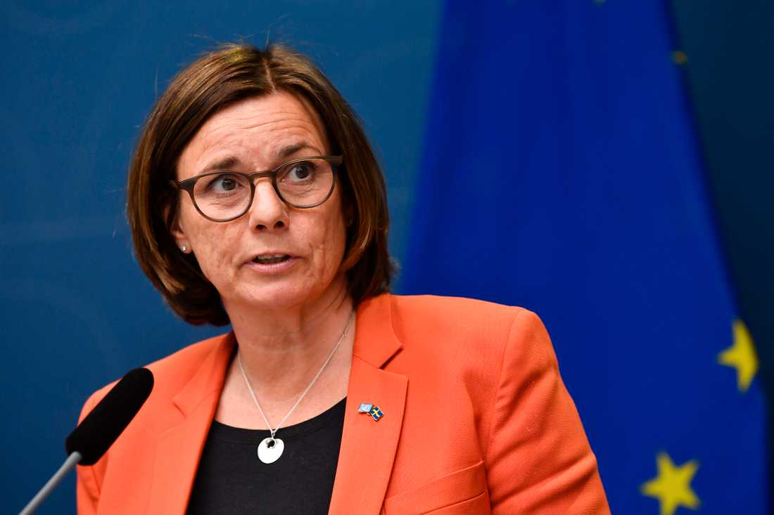 """""""De här 100 miljonerna kommer att vara ett viktigt tillskott för organisationer ska kunna växla upp sitt arbete"""", säger cice statsminister Isabella Lövin (MP)."""