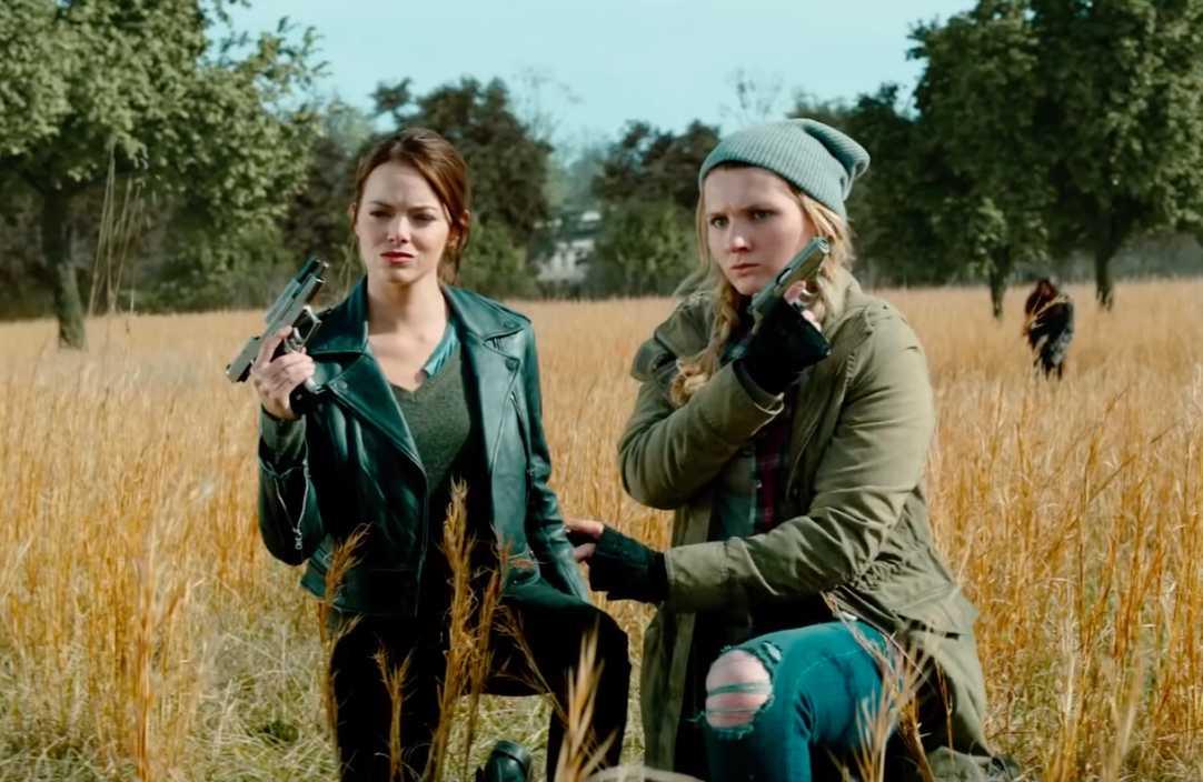 "Emma Stone och Abigail Breslin i ""Zombieland: Double tap""."