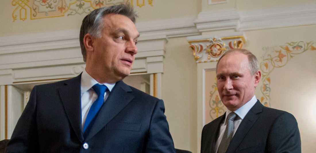 Viktor Orban och Vladimir Putin
