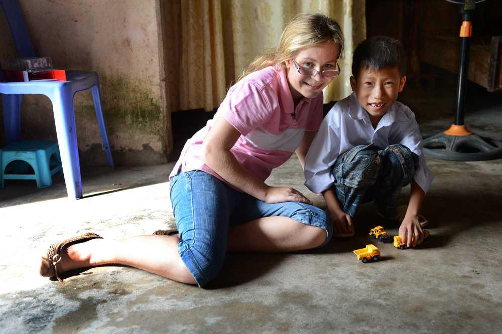 Trung hade tagit ledig från skolan för att träffa Linnea.