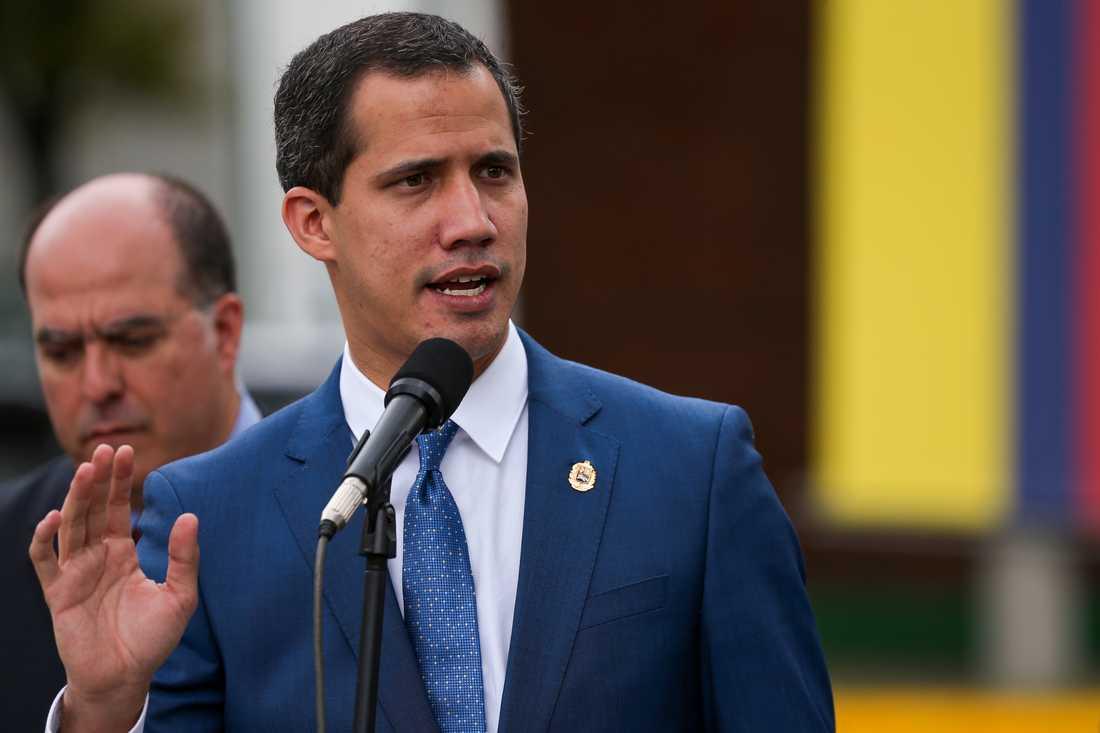 Venezuelas oppositionsledare Juan Guaidó.