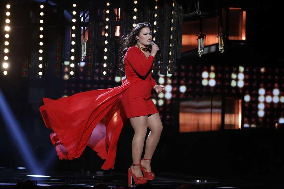 Molly Pettersson Hammar gick inte vidare i Melodifestivalen.