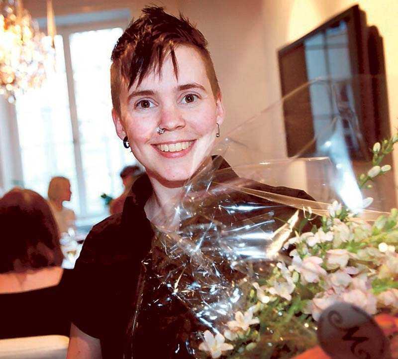 """Sara Lövestam, 28, vann årets Bok-SM med """"Udda""""."""