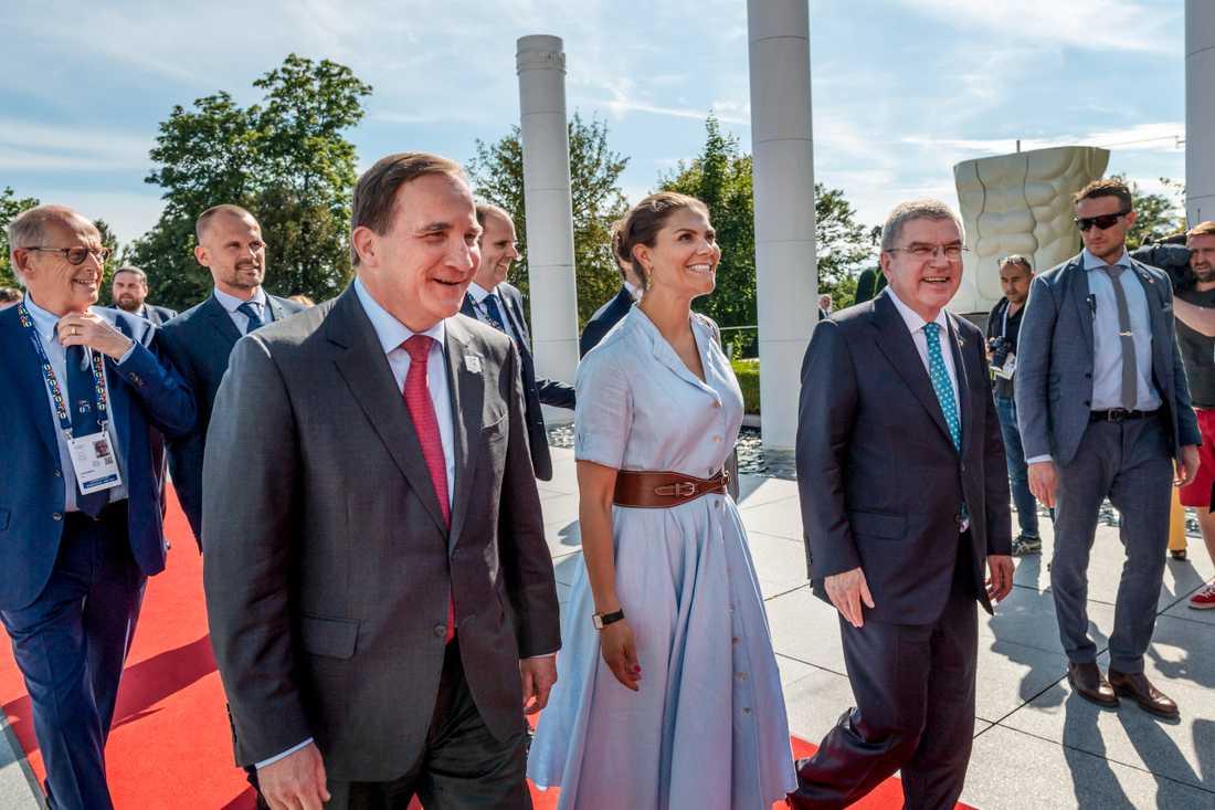 Statsminister Stefan Löfven och kronprinsessan Victoria är på plats i Lausanne inför OS-omröstningen.