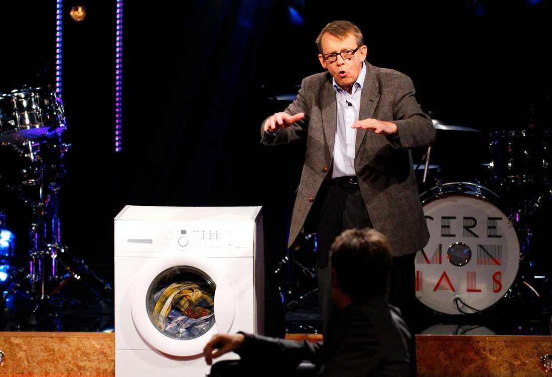 """Hans Rosling i """"Skavlan"""" 2011. I programmet pratade han bland annat om tvättmaskiner och norsk olja."""
