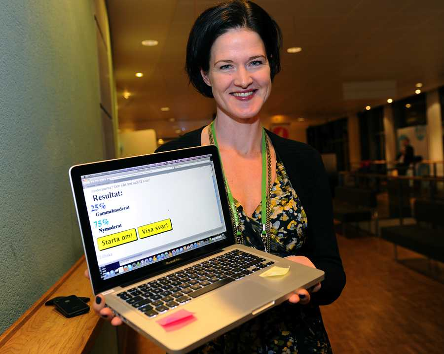 Anna Kindberg Batra 75 procent nymoderat och bara 25 procent gammelmoderat
